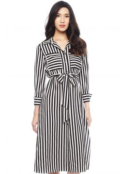 Bengal Stripe Shirt Dress