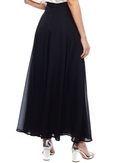 Panelled Pleat Maxi Skirt