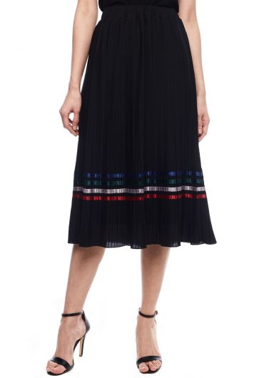 Pressed Pleats Multicoloured Skirt