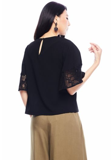 Laced Bell Sleeve Top