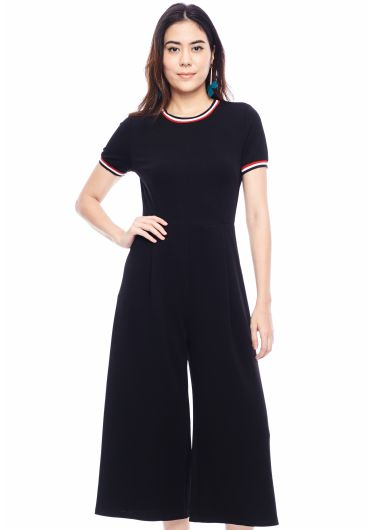 Wide Round Neck Jumpsuit