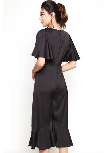 Butterfly Sleeve Ruffle Jumpsuit