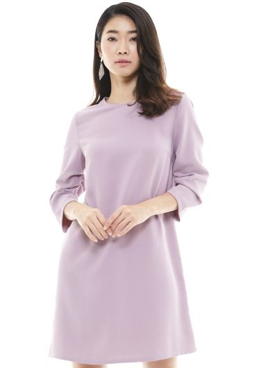 Crumpled Sleeve A-line Dress