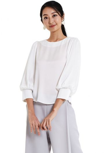 Basic Bishop Cuff Blouse