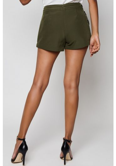 Eyelet Lace Up Side Shorts