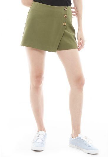 Button Wrap Tunnel Vision Shorts