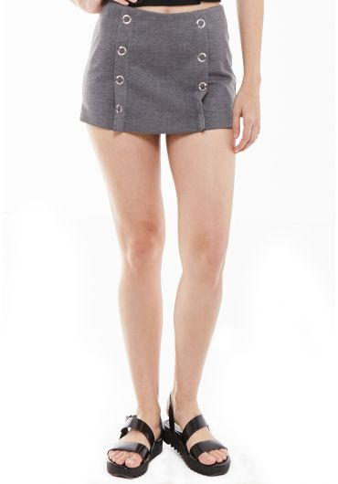 Knitted Eyelet Shorts