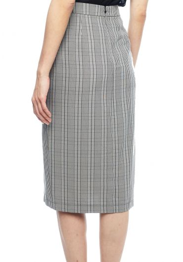Oxford Pleat Midi Skirt
