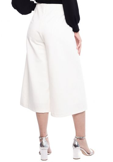 Basic Button Wide Leg Pants