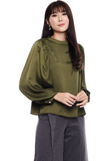 Classic Bishop Sleeve Blouse
