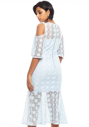 Guipure lace Mermaid Midi Dress