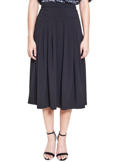 Semi Knife Pleated Skirt