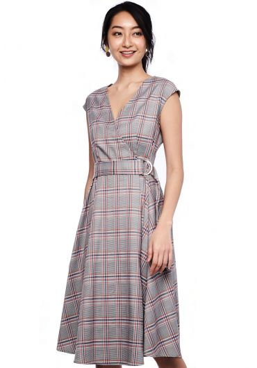 Tartan Belted Dress