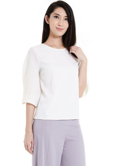 Casual Long Bell Sleeve Top