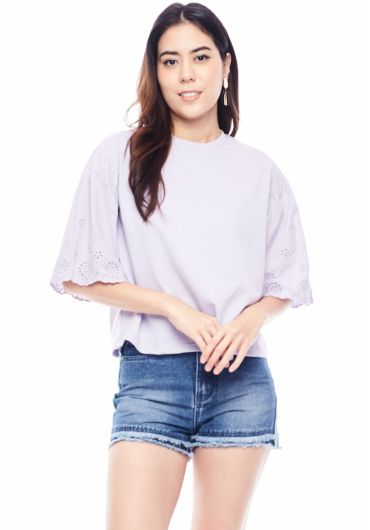 Embroided Bell Sleeve Top