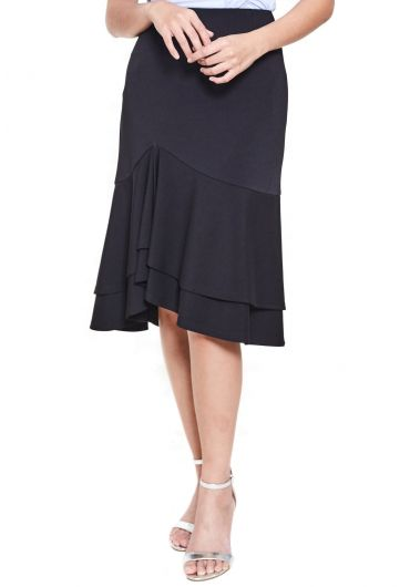 Two-Tiered Midi Skirt