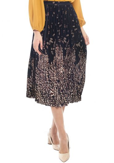 Printed Accordion Skirt