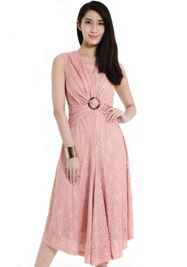 Buckled Knot Sleeveless Dress